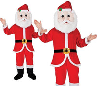 Wholesale Santa Fancy Dress - Custom-made Santa Claus Mascot Costume Christmas day Adult Size Cartoon Costume Party Fancy dress Christmas Costume