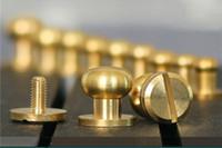 Wholesale Wholesale Wallets Parts - customize brass wallet bag screw belt Rivet Pacifier nail head monk diy handmade leather handbag key case Decorative nails hardware part