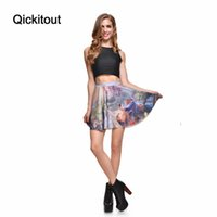 Wholesale Skater Skirts Wholesale - Wholesale-Summer style New 2016 sexy Women's fashion Beauty Beast romance SKATER SKIRT-LIMITED Digital Print Ladies Fairy tales Skirts