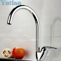 Wholesale Swan Sink Faucets - Free shipping Swan leading Hot and cold kitchen faucet Single handle single hole kitchen faucet Kitchen sink faucet torneira
