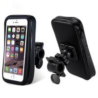 водонепроницаемый держатель телефона для велосипеда оптовых-Новый велосипед аксессуар велоспорт водонепроницаемый руль держатель для мобильного телефона GPS DHL бесплатно