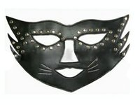 Wholesale Fetish Wholesalers - Wholesale-Free Shipping Women Eyeshade Adult Sexy Game Fetish Goggles Party Catwoman Masks Rivets