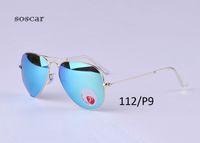 Wholesale Boxes For Flash Drives - UV400 Polarized Sunglasses Brand Designer Sunglasses for Man Women Pilot Style Metal Frame Flash Mirror Lenses 58mm 62mm with Original Box