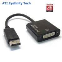 Wholesale Multiple Monitors Adapter - Active ATI Eyefinity 4K DisplayPort DP Male toDVI Female Video Audio HDTV Adapter Converter Multiple Monitor Technology