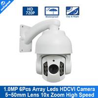 Wholesale Outdoor Mini High Speed Ptz - 4'' Mini High Speed HD 720P CVI PTZ Dome Camera With OSD Menu 5-50mm 10x Zoom Outdoor Waterproof IR 70M Support CVR DVR