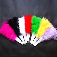 ingrosso vendita di tifosi a mano-New Feather Fans Pieghevole danza Fan mano Fantasia costumi per le donne Halloween festa di nozze forniture vendita calda
