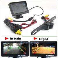 "Wholesale Car Reverse Camera Screen - Infrared Night Vision Reversing Camera 4.3"" TFT Sun Shade Screen Monitor Display car yy101"