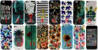 Wholesale Galaxy S4 Elephant Case - For iPhone SE 5 5S 6 6S Samsung Galaxy S4 mini TPU Flower alphabet elephant Wolf stripe Pattern Protective Cell Phone Back Cover