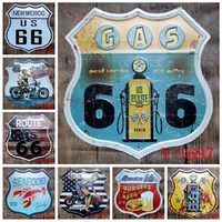 Wholesale route 66 retro resale online - Irregular New Mexico US Route Seafood Best Garage Motorcycle Gas Station Retro Bar Club Wall Decor Embossed metal Tin Sign