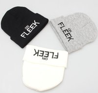 Wholesale mens winter beanies resale online - 3 Colors On Fleek Keep Warm Embroider Knitting Beanies Hip hop Hats Winter Mens Skully Hats CCA6964