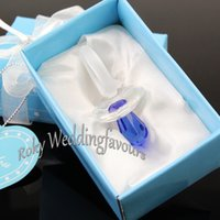 Wholesale crystal baby pacifiers for sale - Group buy Collection Crystal Baby Choice Crystal Baby Pacifier Favors st Birthday Party Favors Baby Shower Pink Blue