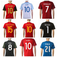 Wholesale Cheapest Thailand Jersey - 2016 Euro Cup Newest Soccer Jerseys All teams Brand Soccer Uniform Top Thailand Soccer Jerseys Cheapest Soccer Wears Mix Order Drop Shipping