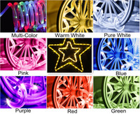 Outdoor imperméable à l'eau Led Solar Neon Flex Signs Rope String Décoration Lights for Wedding Party Lampes de fête de Noël Holiday Battery