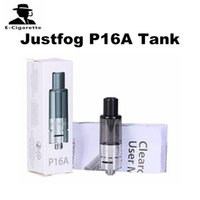 Wholesale Clearomizer Atomizer Replacement - 100% Original Justfog P16A Clearomizer 1.99ml Tank Capacity Rubber Coated OCC Bottom Coil Replacement Atomizer for P16A Kit