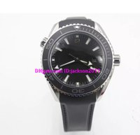 Wholesale Sea Planet - Top NEW Black ETA 8500 Movement Case Sea Planet Ocean BEZEL automatic movement glass back transparent STEEL Belt band original clasp watch