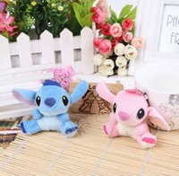 Wholesale Stitch Toy Plush - Free Shipping Wholesale High Quality Cute Lilo and Stitch Plush Doll Toys 7cm Lovely Stitch Toys Plush Animals For Handbags car accessories