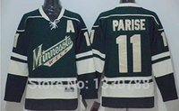 Wholesale Cheap Wild Hockey Jerseys - Minnesota Wild #11 Zach Parise Jersey Green Alternate Stitched Cheap New 2015 Mens Ice Hockey Jerseys MN Wild Sportswear