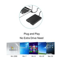 windows plug play al por mayor-Unidad de disquete 3.5 pulgadas USB Unidad de disquete externa 1.44 MB FDD para PC Windows 8/7 XP Windows Vista y Mac OS Plug and Play