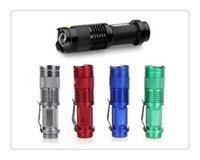 taschenlampen 7w großhandel-Freies epacket, 5 Farben-grelles Licht 7W 300LM CREE Q5 LED kampierender Taschenlampen-Fackel-justierbarer Fokus-Summen wasserdichte Taschenlampen Lampe