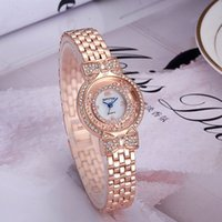Wholesale Fashion Moves - Hot Sale Luxury Style Women Watches Fashion Brand Moving Crystal Stainless Steel Quartz Ladies Watch Montre Relojes De Marca Wristwatches