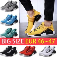 Big Size NMD Human Race boost Man Sapatos de corrida Ultra boost ultraboost nmds amarelo preto branco vermelho Mens womens Sport sneakers US 5-12
