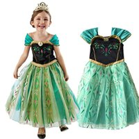 2017 Cute Frozen Girls Princess Costume Robe de soirée Baby Elegant Cosplay Robe Halloween Cosplay Ice Full Robe Fancy Dress