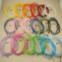 Wholesale China Yarns - 22 Colors U Choose Voile Yarn Wax Ribbon Leather Bib Choker Necklaces Chain Fit Pendants 100pcs  Lot 45cm DIY Chain Chain Necklace TX