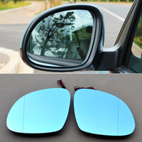 Wholesale Volkswagen Side Mirror - Automotive parts For Volkswagen Tiguan Rearview Mirror Wide Angle Hyperbola Blue Mirror Arrow LED Turning Signal Lights
