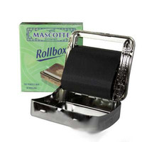 Wholesale Rolling Tobacco Tins - Brand New Automatic Tobacco Roller Tin CIGARETTE ROLLING MACHINE 70mm Aotomatic Rolling Machine