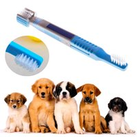 3in1 Pet Toothbrush Dog Gato Dental Grooming Lavar escova de dente Puppy Tooth Cleaning Tools Cuidados com os dentes Dog Cleaning Supplies