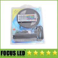 Wholesale Led Tape Light Power Supply - Waterproof RGB Led Strips Kit 5050 5M 300LEDs Ribbon Tape Lights + 44 Key IR Remote Controller + 12V 6A Power Supply Adapter Kit