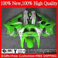 Wholesale Kawasaki Zx6r 1996 Bodywork - Body For For KAWASAKI NINJA ZX636 ZX6R 94 95 96 97 ZX-6R Bodywork HM.27 Stock green ZX-636 600CC 636 ZX 6R 1994 1995 1996 1997 Fairing kit