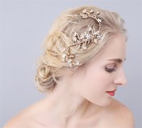 Crystal Rhinestone Hair Clip Vintage Wedding Bridal Headpiece Acessórios para o cabelo Flower Crown Tiara Gold Jewelry Headdress Hair Pins Wholesale