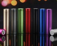 Wholesale Lipstick Usb Charger Wholesale - 100Pcs Fashionable aluminum Lipstick 2600 mAh Power Bank Portable Backup External Battery USB Mobile charger Mobile Power Supply A-YD