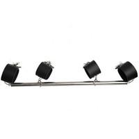 metal esaret kelepçesi toptan satış-Paslanmaz Çelik Ayarlanabilir Yayıcı Bar Kelepçe ile Kelepçeleri Kilitleri ile Asma Kilitleri Metal Restraint Kölelik Dişli Sling Bar oyuncak
