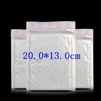 Wholesale Plastic Delivery Bags - Wholesale- 6pcs white 13*20.0cm*4.5g Waterproof sunscreen express delivery envelopes padded Mailing Bag