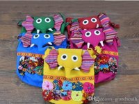 Wholesale Ethnic Bags - Hot Selling Chinese Ethnic Character Cloth Handmade Preschool Baby Elephant Colorful Stitch Preschool baby Cotton Elephant Bag