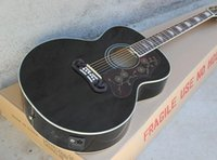 Hot selling 43'' Folk Black Acoustic Guitar with A Five-section Liquid Crystal Pickups,Black Binding,Can be Customized as Request