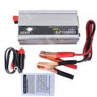 Wholesale Free Inverter - Wholesale- Free shipping!! 1200W 1200 WATT Modified Sine Wave Car Boat Convertisseur 12V DC In 220V AC Out Power Inverter