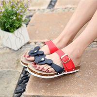 Wholesale Cheap Silver Flat Sandals - Feminine Cheap Cartoon Animal Prints Plus size 44 43 Slipper Ladies Casual Summer beach shoes Flip flops Slip-on Sandals Thongs