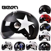 Wholesale Electric Motorbikes - Netherlands BEON Harley style motorcycle helmet ABS half face electric bicycle motorbike helmets unisex summer UV size M L XL