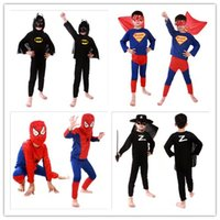 Costume cosplay Spiderman Superman Costume di Halloween Abiti Kit Bambini BABY manica lunga costume da supereroe cosplay set