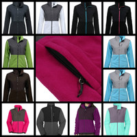 Wholesale Womens Red Zipper Jacket - 2016 New Womens Winter Fleece Jackets Coats High Quality Ladies Outdoor Windproof Warm Sports Coats Outdoor Ski Down Sportswear Black S-XXL