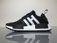 Wholesale Popular Boots For Men - WM x NMD Trail PK White Mountaineering Red BA7519 Black BA7518 Running Shoes for Men Popular Outdoor Streetwear Sneakers Size 11