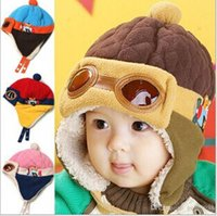 Wholesale Wholesale Kids Aviator Hats - Kids Infant Winter Pilot Aviator Warm Cap baby hats 2~5 years old
