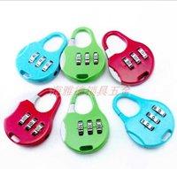 Wholesale Locking Metal Cabinets - 200pcs lot Travel Lock Alloy TSA Customs Lock Combination Lock Code Lock Padlock For Luggage Zipper Bag Handbag Suitcase Drawer Cabinet