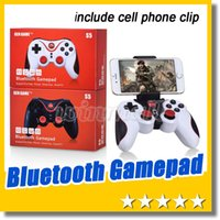 Wholesale gamepad android iphone resale online - DHL Wireless Bluetooth Joystick Gamepad Gaming Controller Remote Control for Android iPhone iCade Games PC Holder Included