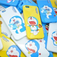 Wholesale iphone cases doraemon online - cartoon phone case for iphone7 iphone s plus soft TPU painting cover case Doraemon cartoon protector cover case PC delivery GSZ058