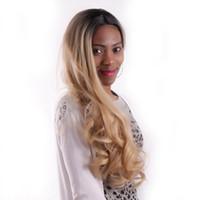 ingrosso parrucche brasiliane sul lato laterale del corpo-Parrucche glueless capelli umani brasiliani 1B 27 ombre lato dell'onda del corpo parte centrale parrucche piene del merletto 130% densità per le donne nere