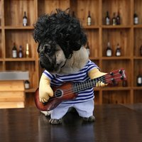 Wholesale Female Funny Costumes - Dog Clothes Funny Look Playing Guita Stripes Clothing Style 3 Sizes Cotton Maded Literal Dressing Pets Decoration